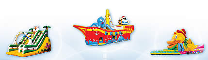 Inflatable: slides, swallowers, castles, dry pools, swimming pools, competition, playing fields, mountains, sponges