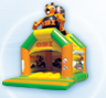 Inflatable castles with roof